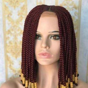 Beaded short and full braiding wigs
